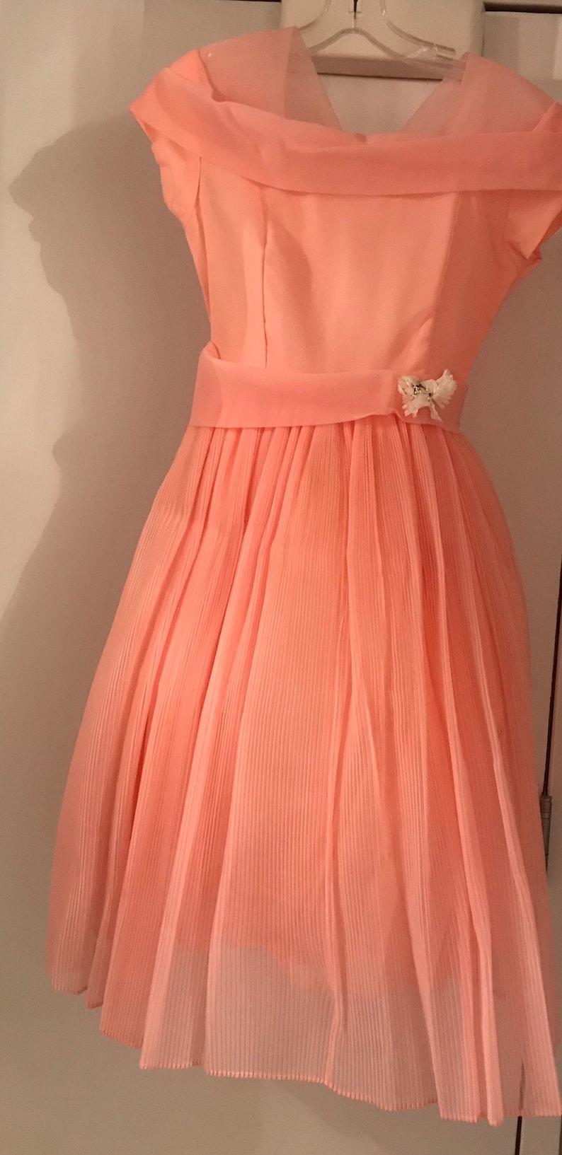 306af9aad083 Vintage 1962 Kerry Teen Sears organza dress | Etsy