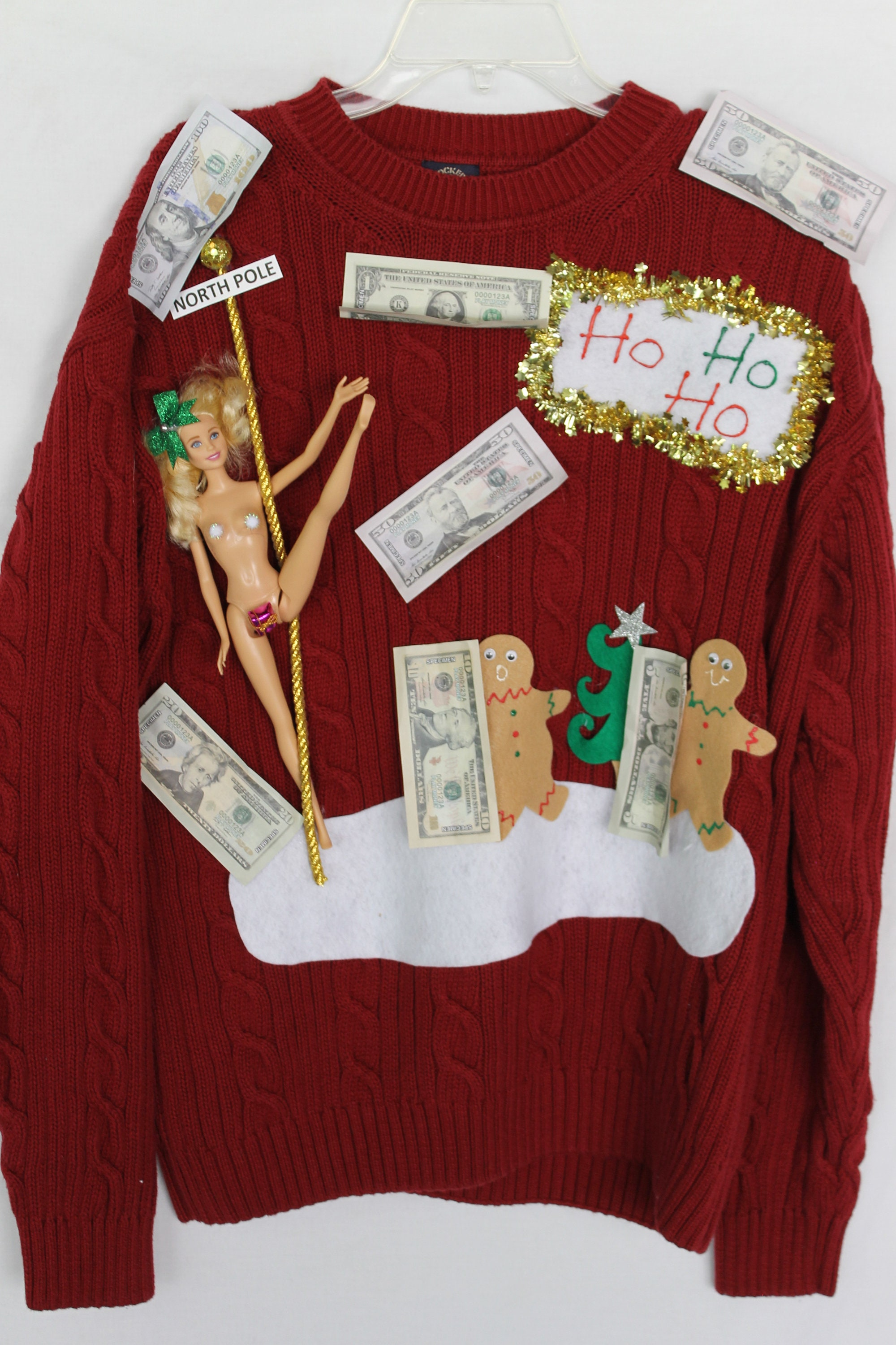 Created By Deb Rottum Raunchy Ugly Naughty Christmas Sweater Etsy
