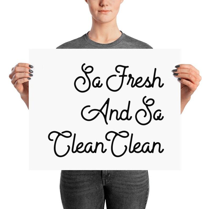85b6fb9a Art Print Printed Art So Fresh and So Clean Clean Bathroom | Etsy