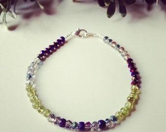 Sapphire & peridot bracelet