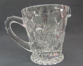 Crystal - Creamer / milk jug / Creamer Handgeschliffen * spin star *.
