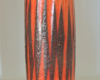 WGP - Scheurich - 352 / 28 * vase * fat lava * orange / red * top Zustand *.