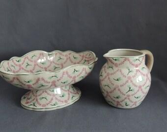Brigitte by Boch * Elesier Bowl & jug * home accessories * design * Mint green with pink