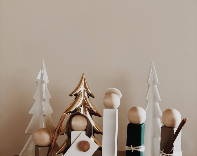 Wooden Nativity Set - Christmas Decor - Holiday Decor