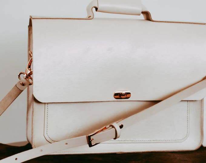 Maale Leather Briefcase Satchel
