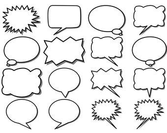 graphic about Printable Thought Bubbles referred to as Speech bubble Etsy