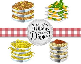 Dinner Clip Art - Food Clip Art, Spaghetti Clip Art, Salad Clip Art, Clip Art Salad, Restaurant Clip Art, Diner Clip Art, Menu Clip Art