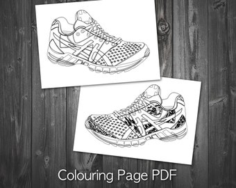 Coloring Page - Shoe Coloring Page, Adult Coloring Page, Printable Coloring Pages, PDF Coloring, Colouring Page, Coloring Book, Zen Therapy