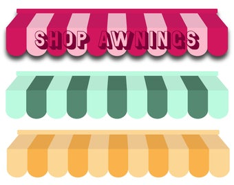 Shop Awning Clipart - Shop Clipart, Commerce Clipart, Business Clipart, Shop Awning Image, Shop Vector, Business Image, Display Clipart, SVG
