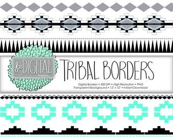border clipart Tribal Borders scrapbook birthday invites PNG Chunky Marker Borders Borders Clip Art Hand Drawn Border doodles