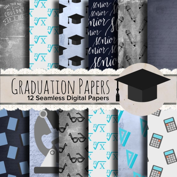 Graduation Paper Graduation Scrapbook Paper Notebook Paper Etsy