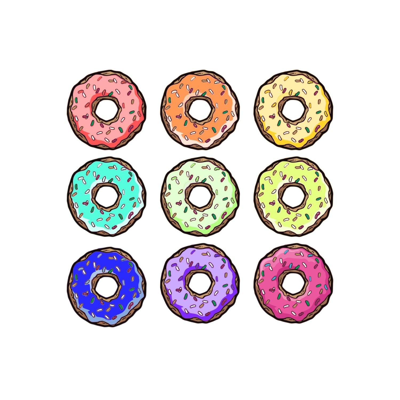 donut clip art donut clipart pastry clip art food clip art rh etsystudio com donut clip art free donut clipart border