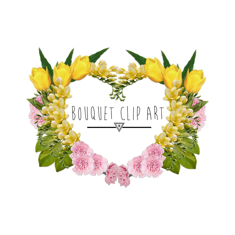 Flower heart clip art floral arrangement clip art flower etsy zoom izmirmasajfo