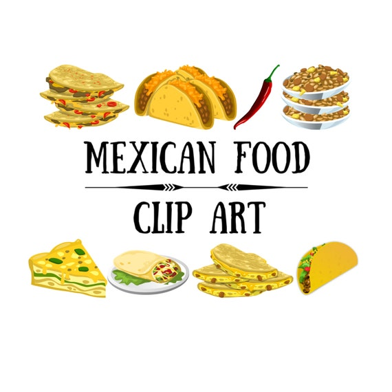 mexican food clip art clip art mexican food taco clip art clip rh etsystudio com mexican food clip art borders mexican food clip art black and white