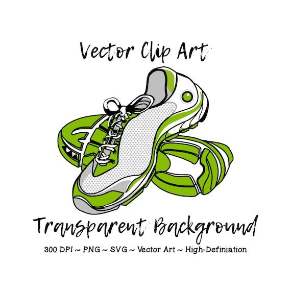 Athletic Shoe Clip Art , Running Shoe Clipart, Marathon Clipart, Fitness  Clip Art, 5K Clip Art, Gym Clipart, Workout Clip Art, Track Clipart