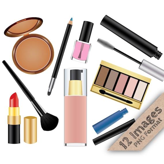 makeup clip art make up clipart cosmetic clipart lipstick etsy rh etsy com makeup clip art images makeup clip art eyeshadow
