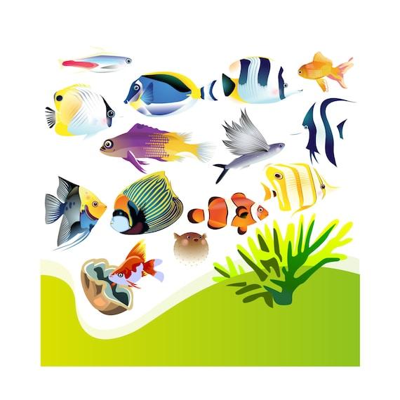 aquarium clip art aquarium clipart clip art aquarium etsy rh etsy com etsy clipart of witches face for halloween etsy clip art easter