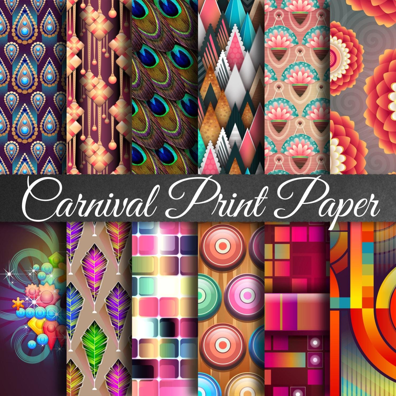 Carnaval II papeles de Scrapbooking de carnaval alta   Etsy