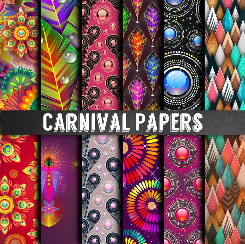 Carnevale Papers Carnevale Carte Scrapbooking Ad Alta Etsy