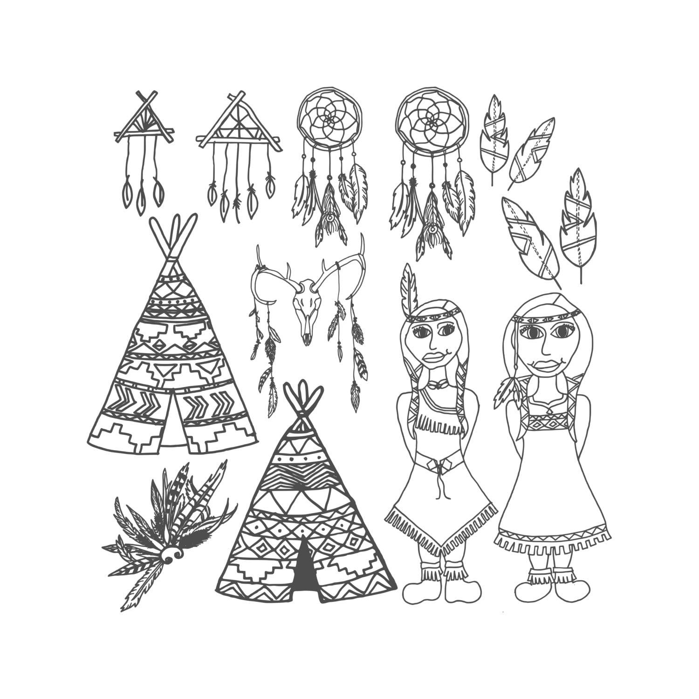 Stammes Malvorlagen Druckbare Ausmalbilder Erwachsene Malvorlagen Aztec Färbung Indischen Färbung Tribal Print Indianer Farbe