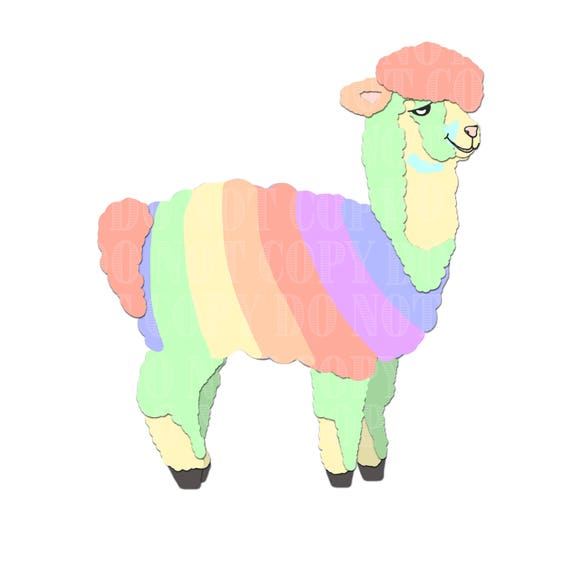 rainbow alpaca clip art clipart alpacas alpaca vectors etsy rh etsy com alpaca clipart images alpaca cartoon clipart