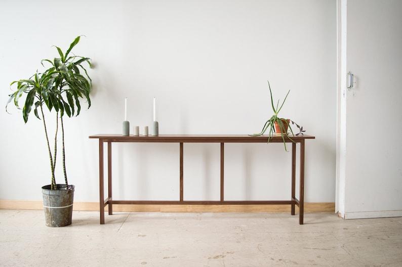 Sofa Table, modern table, walnut table