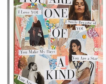You are one of a kind.  Original Art Reproduction on 20x24 Canvas.