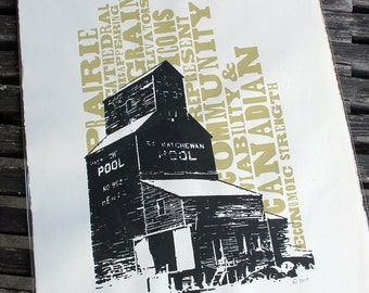 Grain Elevator Signed and Numbered Silkscreen Print