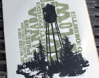 Water Tower Signed and Numbered Silkscreen Print