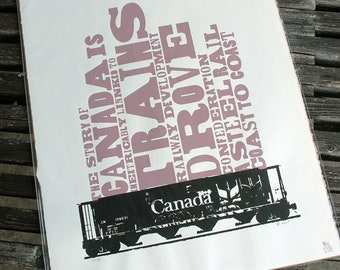 Railcar Signed and Numbered Silkscreen Print
