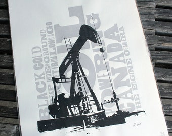 Pumpjack Signed and Numbered Silkscreen Print