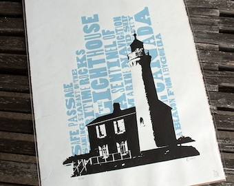 Lighthouse Signed and Numbered Silkscreen Print