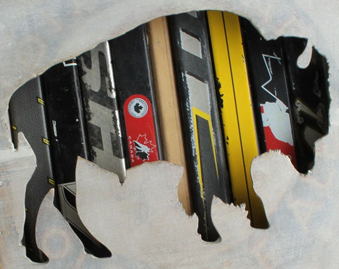 "Featured listing image: 12x12"" Bison Reclaimed Hockey Stick Shadow Box"
