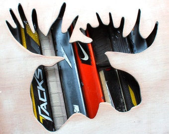 Moosehead Reclaimed Hockey Stick Shadow Box