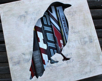 "12x12"" Crow Reclaimed Hockey Stick Shadow Box"