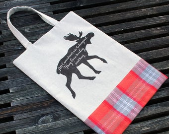 Moose Tote & Book Bag