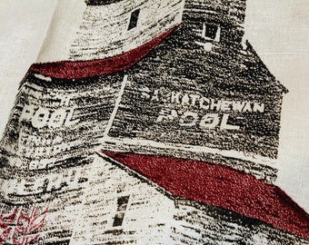 Grain Elevator Tea Towel