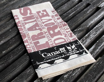 Canadian Railcar Tea Towel