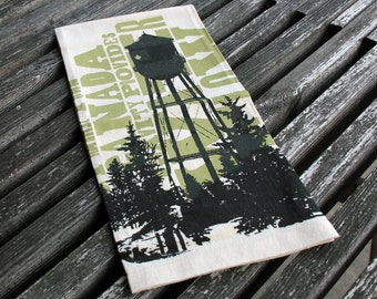 Water Tower Tea Towel