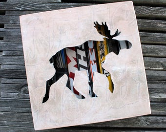 "12x12"" Moose Stick Shadow Box"