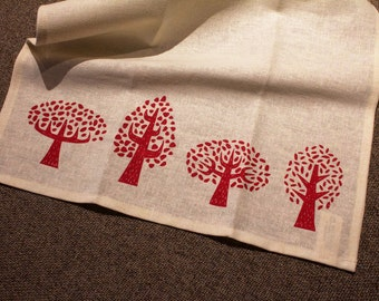 Winter Trees Tea Towel