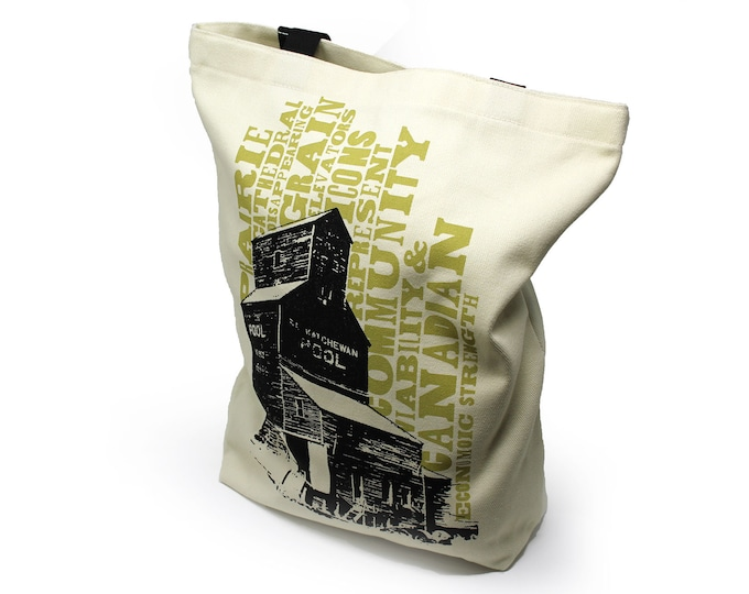 Featured listing image: Canadian Icons Grain Elevator Shopping Bag