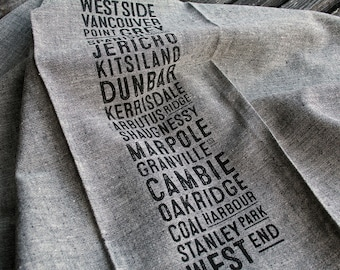 West Side Bus Scroll Tea Towel