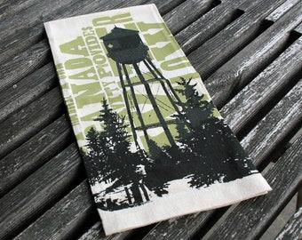 Water Tower Tea Towel