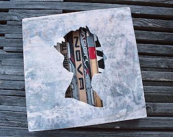 "12x12"" Queen Reclaimed Hockey Stick Shadow Box"
