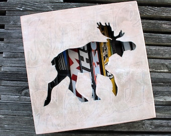 "12x12"" Moose Stick Shadow Box"