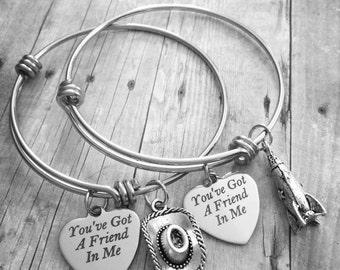 You've Got A Friend In Me Woody/Buzz Toy Story Bracelet Set