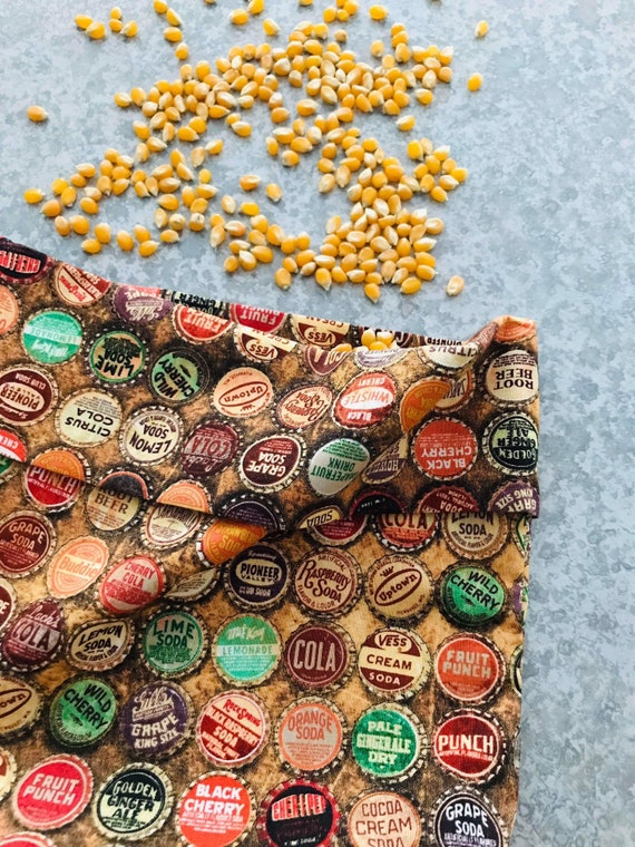 100% Cotton  Microwave Popcorn Bag  No PFOA's  Eco-Friendly  Reusable