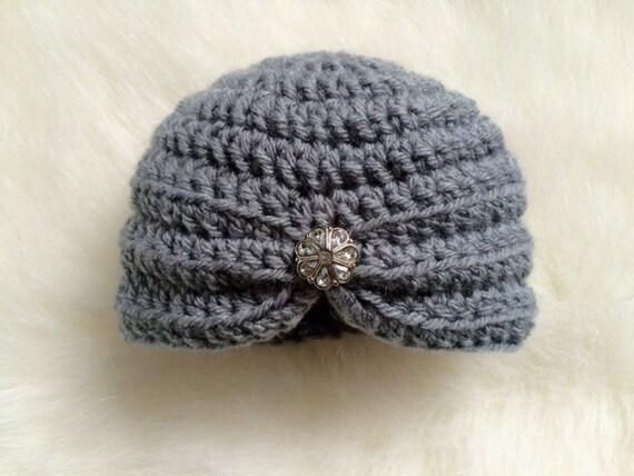 Neonata Di Cappello Turbante Neonata Uncinetto Bottone Etsy