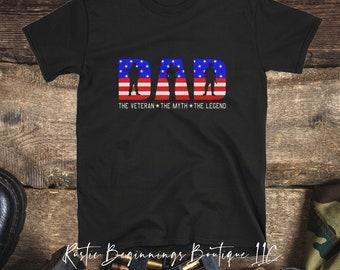 cb619fbf Military dad shirt, Military fathers day gift, Veterans Fathers Day Gift,  Veteran Tee, Veteran Shirt